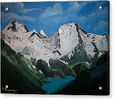 Acrylic Print featuring the painting Glacier Lake by Sharon Duguay