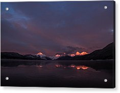 Alpen Glow // Lake Mcdonald, Glacier National Park Acrylic Print by Nicholas Parker