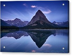 Glacier Park Reflection Acrylic Print by Andrew Soundarajan