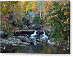 Acrylic Print featuring the photograph Glade Creek Grist Mill by Daniel Behm