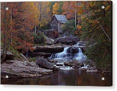 Glade Creek Grist Mill In Autumn Acrylic Print