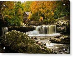 Glade Creek Grist Mill Acrylic Print by Shane Holsclaw
