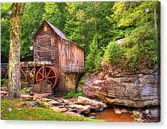 Glade Creek Mill  Acrylic Print by Gregory Ballos