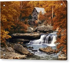Glade Creek Mill In Autumn Acrylic Print by Tom Mc Nemar