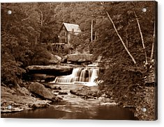Glade Creek Mill In Sepia Acrylic Print by Tom Mc Nemar