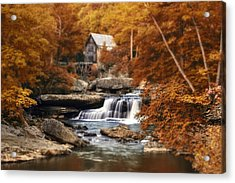 Glade Creek Mill Selective Focus Acrylic Print by Tom Mc Nemar