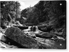 Glade Creek Waterfall Acrylic Print by Shelly Gunderson