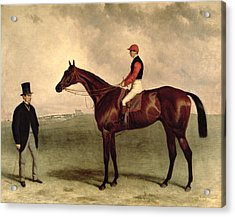 Gladiateur With Harry Grimshaw Up And His Owner Count Frederic De Lagrange Acrylic Print by Harry Hall
