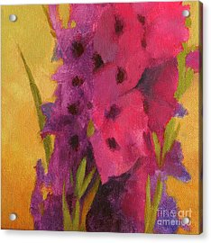 Gladiolas No. 2 Acrylic Print by Melody Cleary