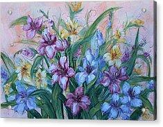 Gladiolus Acrylic Print by Natalie Holland