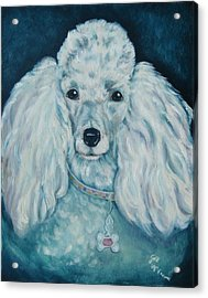 Glamorous Poodle Acrylic Print by Gail McFarland