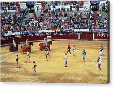 Glamour In The Bullfight Acrylic Print by Laura Jimenez