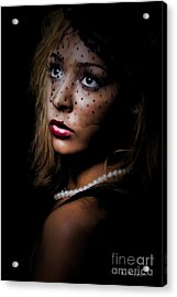 Acrylic Print featuring the painting Glamour by Linda Blair