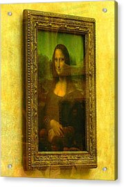 Glance At Mona Lisa Acrylic Print