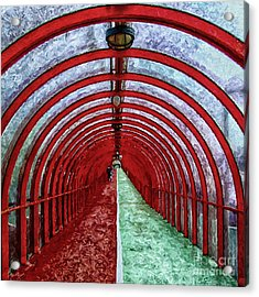 Glasgow Arcs Painting Acrylic Print by Antony McAulay