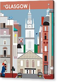 Glasgow Acrylic Print by Karen Young