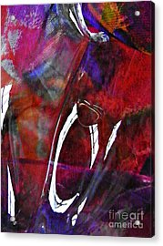 Glass Abstract 189 Acrylic Print by Sarah Loft