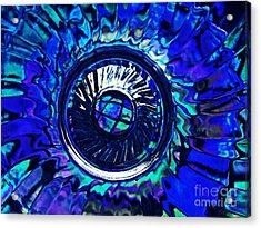 Glass Abstract 481 Acrylic Print by Sarah Loft