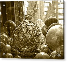 Glass Balls Japanese Glass Buoys Acrylic Print by Artist and Photographer Laura Wrede