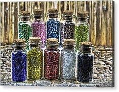 Glass Beads Acrylic Print by Tracy  Hall
