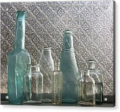 Glass Bottles 2 Acrylic Print