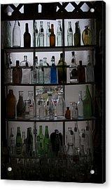 Glass Bottles Acrylic Print by Micaela Brown