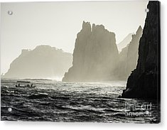 Glass Bottom Boat Acrylic Print by Richard Mason