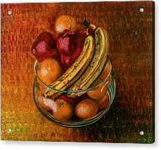 Glass Bowl Of Fruit Acrylic Print by Sean Connolly