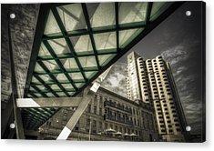 Glass Bridge Acrylic Print by Wayne Sherriff