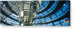 Glass Dome Reichstag Berlin Germany Acrylic Print by Panoramic Images