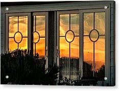 Glass Doors Aglow Acrylic Print