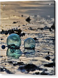Glass Float At Sunset Acrylic Print by Cynthia Lagoudakis