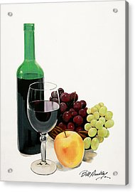 Glass Half Full Acrylic Print by Bill Dunkley