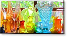 Glass In Sunlight Acrylic Print by Jeanne Porter