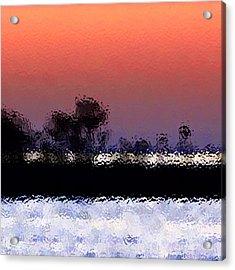 Glass Island Acrylic Print by Gayle Price Thomas