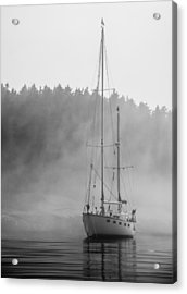 Glass Lady In The Fog Acrylic Print