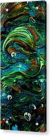 Glass Macro Abstract 13e7 Acrylic Print by David Patterson
