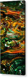Glass Macro Abstract Ego1 Acrylic Print by David Patterson
