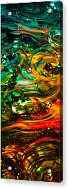 Glass Macro Abstract Ego1ce Acrylic Print by David Patterson