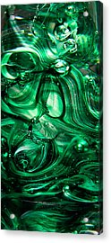 Glass Macro Abstract Egw Acrylic Print by David Patterson