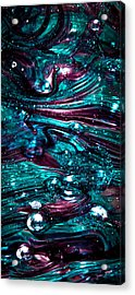Glass Macro Abstract Rb3 Acrylic Print by David Patterson