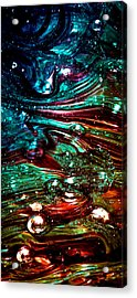 Glass Macro Abstract Rb3ce Acrylic Print by David Patterson