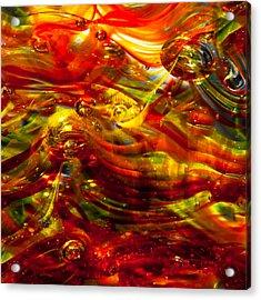 Glass Macro - Burning Embers Acrylic Print by David Patterson