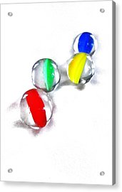 Glass Marbles Acrylic Print