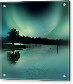 Glass Moon Acrylic Print
