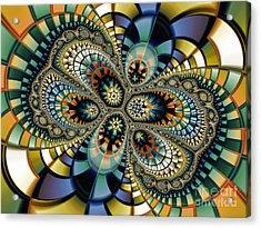 Glass Mosaic-geometric Abstraction Acrylic Print