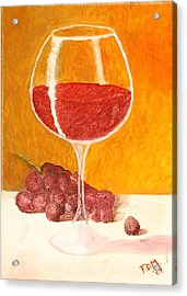 Glass Of Grapes Acrylic Print