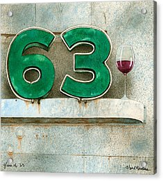 Glass Of Sixty Three... Acrylic Print by Will Bullas