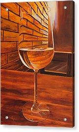 Glass Of Viognier Acrylic Print