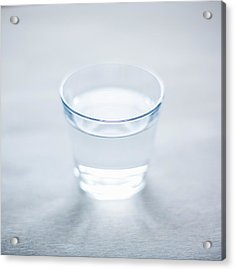 Glass Of Water Acrylic Print by Steven Errico